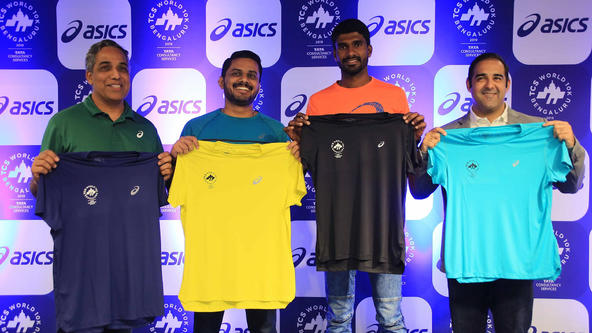 ASICS ALONG WITH ARJUNA AWARD WINNER JINSON JOHNSON AND STEELY WOMEN PACERS, UNVEIL THE 'FINISHER'S TEE' FOR TCS WORLD 10K BENGALURU
